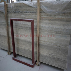Silver Grey Travertine Slab