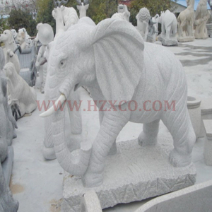 HZX-Grey Granite Elephant Sculpture