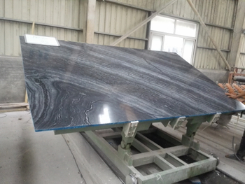 New Arrival -Black Wood Marble Slab