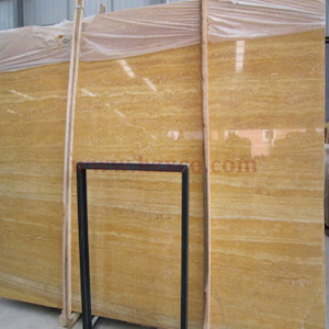 Golden Travertine Slab
