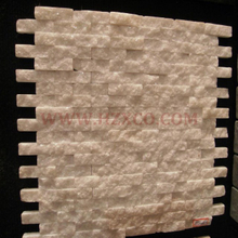 Natural Split Surface White Marble Mosaics
