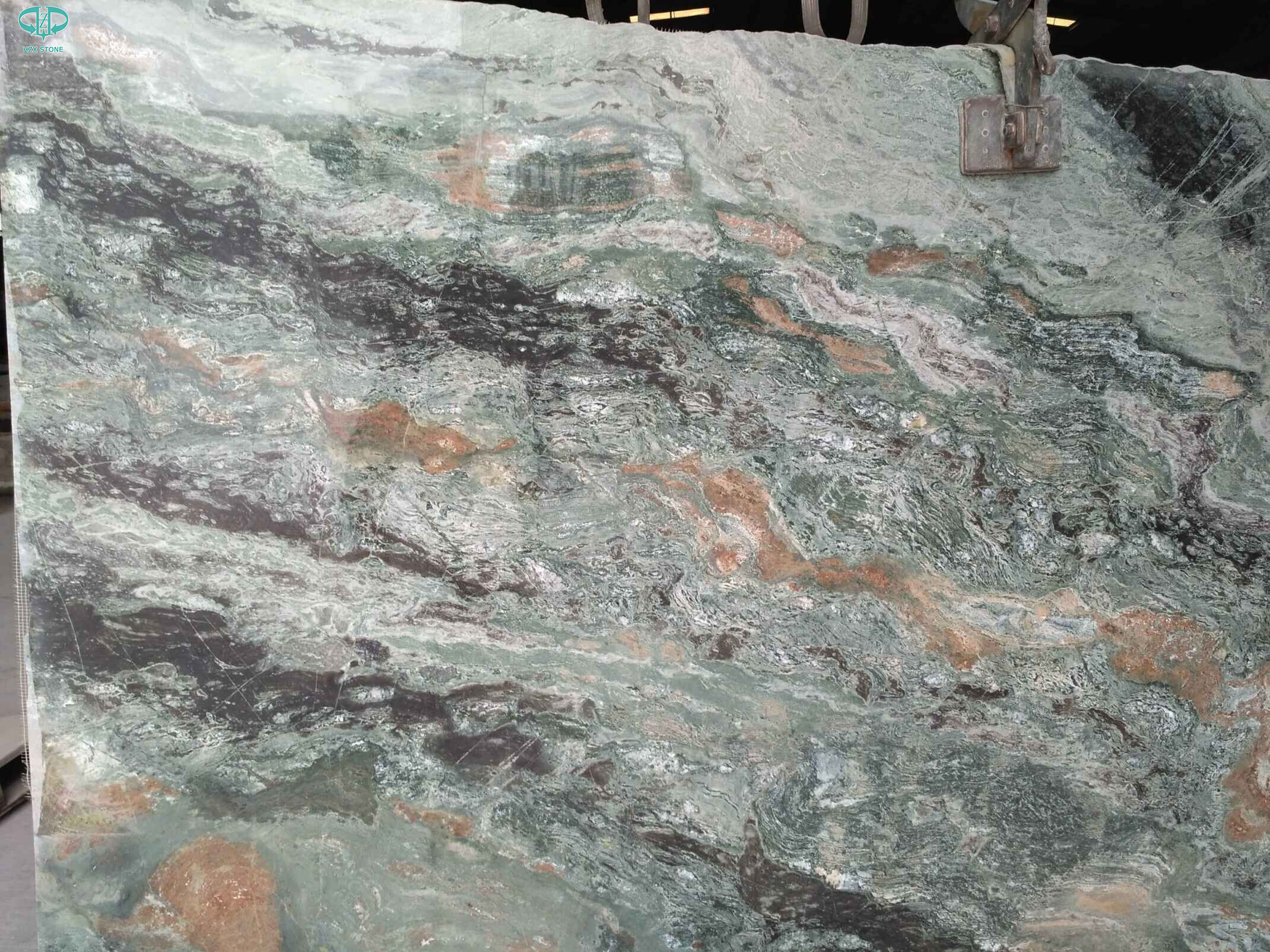 BuyEmerald Green Granite Slabs,Green Granite,Green Granite StoneProducts onChina HZX Stone